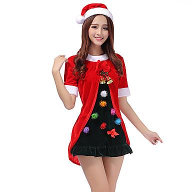 サンタスーツ パーティーコスチューム 女性用 クリスマス カーニバル 新年 イベント/ホリデー ハロウィーンコスチューム パッチワーク