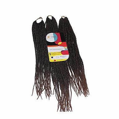 Senegal Syntetisk hår Hairextensions med menneskehår Vri Fletting Hårfletter Daglig