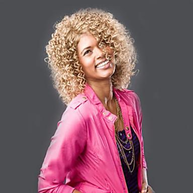 Cabelo Sintético perucas Afro Encaracolado Peruca Natural Curto Loiro