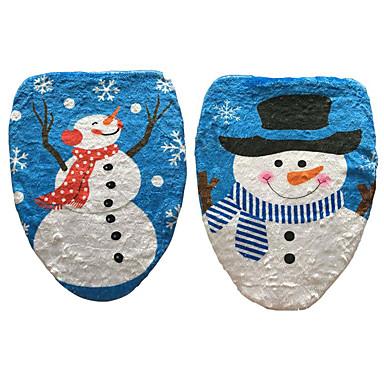 1kpl lumiukko WC kannen leima WC kattaa joulukoristeen (tyyli random)