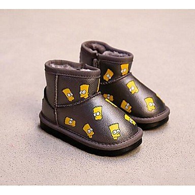 BootsitTyttöjen-Tekonahka-Musta Harmaa-Rento-Comfort