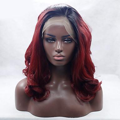 Synteettiset peruukit Laineita Luonnollinen hiusviiva Naisten Lace Front Luonnollinen peruukki Keskikokoinen Synteettiset hiukset