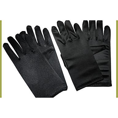 Puuvilla / Silkki Rannepituus Glove Viehätys / Tyylikäs / Morsiuskäsineet With Kirjonta / Yksivärinen