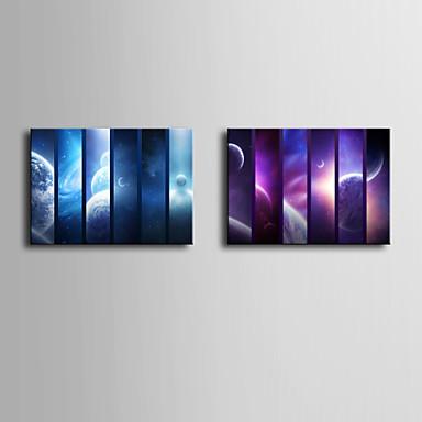 Paisagem Impressão em tela Dois Painéis Pronto para pendurar , Vertical