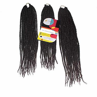 Trenza de la torcedura Trenzas de cabello Senegal Cabello 100 % Kanekalon Negro / oscuro Auburn Cabello para trenzas Extensiones de
