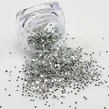 1 pcs Jóias de unha / Paetês Elegante & Luxuoso / Brilho & Glitter Design Moderno / Paetês / Espumante Diário Nail Art Design