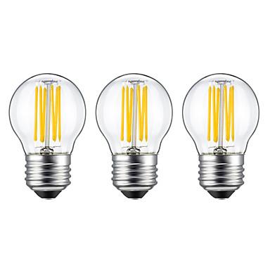 3pcs 5W 550lm E26 / E27 Bombillas de Filamento LED G45 6 Cuentas LED COB Blanco Cálido 220-240V