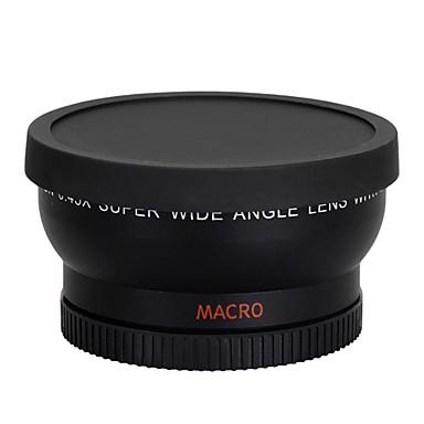 58 milímetros 0,45 x lente grande macro lente de ângulo de canhão 350d / 400d / 450d / 500d / 1000D / 550D / 600D / 1100D câmera DSLR