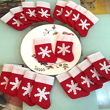 12 peças / set meias do natal ornamento mini-festa de natal decoração suprimentos decorações festival