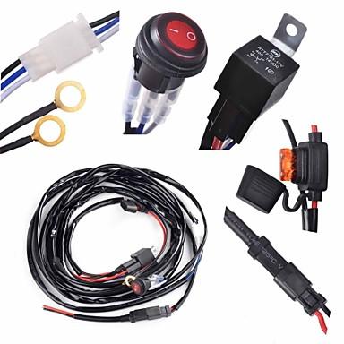 1足配線ハーネスをスイッチキットsuppotの300ワットは、作業光はバー配線ハーネスとスイッチキットを主導主導含まkawell