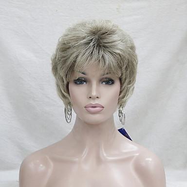 Syntetiske parykker Bølget tetthet Lokkløs Dame Blond Karneval Parykk Halloween parykk Naturlig parykk Syntetisk hår