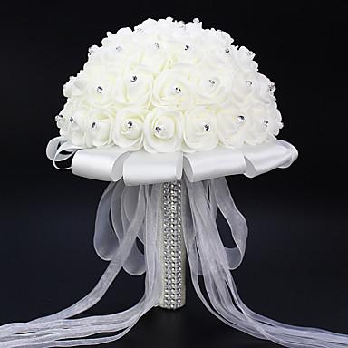 人工花 1 ブランチ シンプルなスタイル バラ テーブルトップフラワー