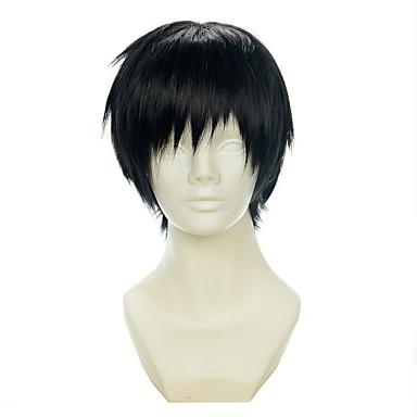 Pelucas sintéticas / Pelucas de Broma Recto Corte Pixie / Con flequillo Pelo sintético Negro Peluca Mujer Corta Sin Tapa Negro