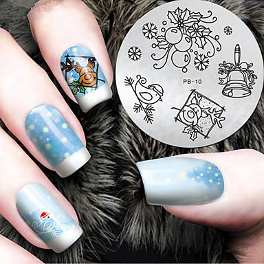 1 pcs Estampado de placa Modelo Diseños de Moda arte de uñas Manicura pedicura Elegante / Moda Diario / Placa de estampado