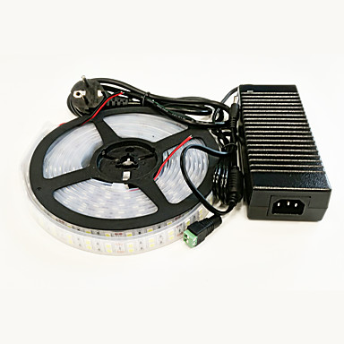 5m Valosetit 600 LEDit 5050 SMD Lämmin valkoinen / Valkoinen Vedenkestävä 100-240 V / IP65