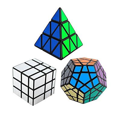 3 piezas Cubo magico Cubo IQ Shengshou Pyramid Alienígena Dodecaedreo 3*3*3 Cubo velocidad suave Cubos mágicos Juguete Educativo rompecabezas del cubo Velocidad Profesional Clásico Niños Adulto Juguet