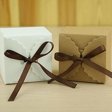 abordables Support de Cadeaux pour Invités-Rectangulaire Papier durci Titulaire de Faveur Avec Rubans Boîtes à cadeaux Boîtes Cadeaux