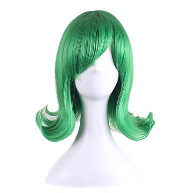 Mulher Perucas sintéticas Ondulado Verde Peruca para Cosplay Perucas para Fantasia