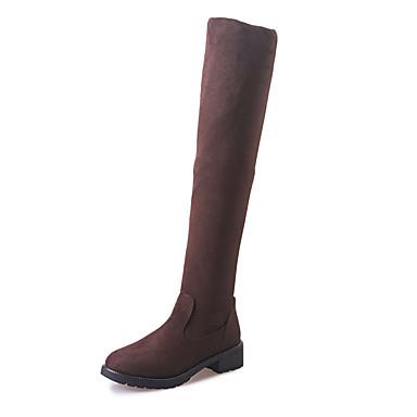Zapatos Botas Invierno Botas Paseo 05357253 Confort Mujer Negro de Cachemira Autoadherente Dedo Tacón redondo Cierre Marrón Combate Plano 4wqEcHxIdx