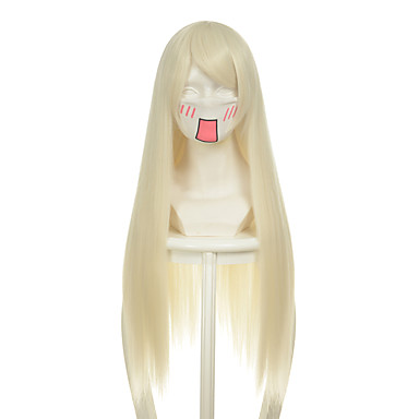 人工毛ウィッグ ストレート 合成 かつら 女性用 ロング / 非常に長いです キャップレス