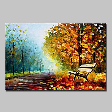 Handgeschilderde Landschap / Abstracte landschappen Olie schilderijen,Modern Eén paneel Canvas Hang-geschilderd olieverfschilderij For