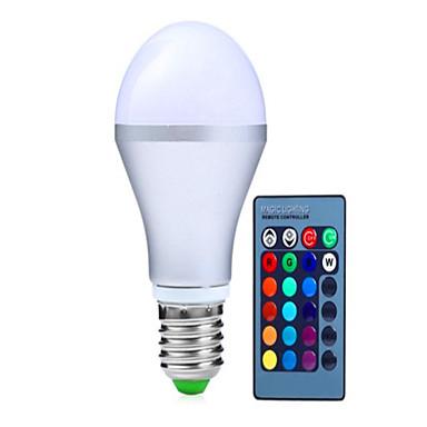 1pç 5 W 300 lm E14 / GU10 / B22 Lâmpada de LED Inteligente A60(A19) 1 Contas LED LED Integrado Regulável / Controle Remoto / Decorativa RGB 85-265 V / 1 pç / RoHs