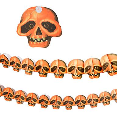 1pc 3m da cena house bar assombrado adereços Halloween abóboras esqueleto guirlanda decoração suprimentos