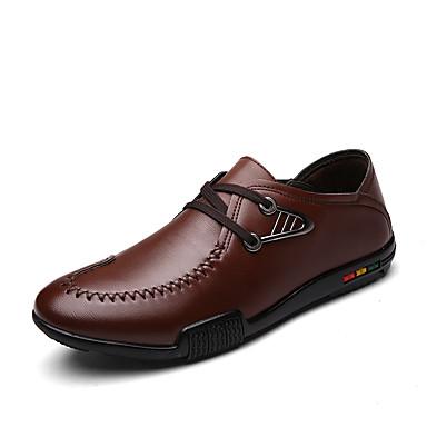 Masculino sapatos Courino Inverno Primavera Verão Outono Conforto Oxfords Cadarço para Casual Preto Marron Azul marinho