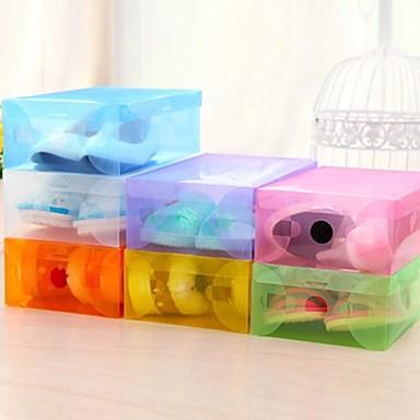 lucide schoenen doos plastic schoenen met deksels opslag (willekeurige kleur)
