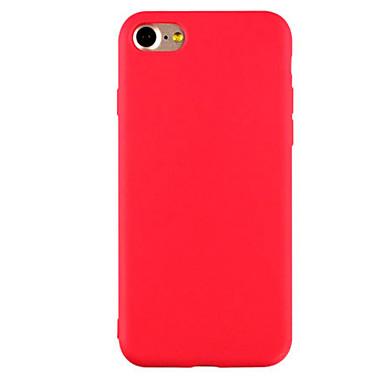 hoesje Voor Apple iPhone X iPhone 8 iPhone 6 iPhone 7 Plus iPhone 7 Ultradun Mat Achterkant Effen Kleur Zacht TPU voor iPhone X iPhone 8