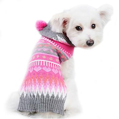 4658ec16a6b9 Σκύλος Πουλόβερ Ρούχα για σκύλους Ριγέ Μάλλινο Στολές Για Άνοιξη   Χειμώνας  Χειμώνας Ανδρικά Γυναικεία Διατηρείτε Ζεστό