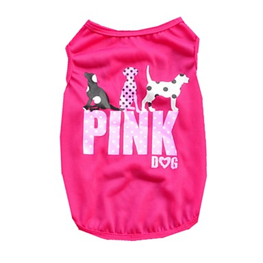 Gato Perro Camiseta Chaleco Ropa para Perro Animal Morado Rosa Verde Terileno Disfraz Para mascotas Hombre Mujer Bonito Casual/Diario