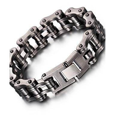 Heren Armbanden met ketting en sluiting Modieus Roestvast staal Geometrische vorm Sieraden Voor Feest Verjaardag Dagelijks Causaal