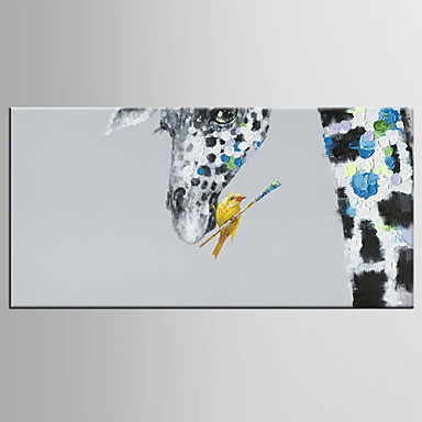 Hang malte oljemaleri Håndmalte - Pop Kunst Klassisk Moderne Lerret