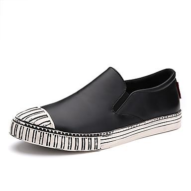 Miehet kengät PU Kevät Kesä Syksy Talvi Comfort Mokkasiinit Käyttötarkoitus Kausaliteetti Musta Ruskea