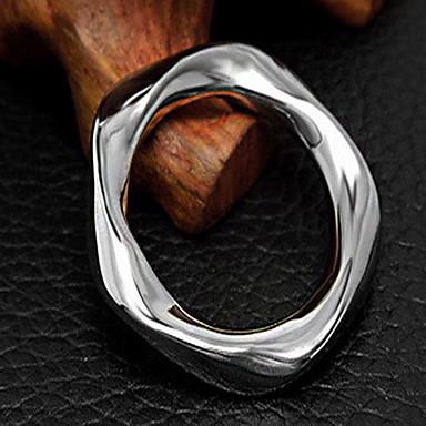 Ring Sirkelformet Geometrisk Form Sølv Smykker Til Fest Daglig 1 stk
