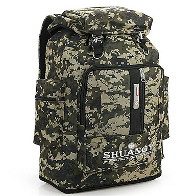 56-75 L حقائب ظهر - مقاوم للماء, متنفس, مقاومة الهزة في الهواء الطلق التخييم والتنزه, التسلق, رياضة وترفيه نايلون CalfWidth
