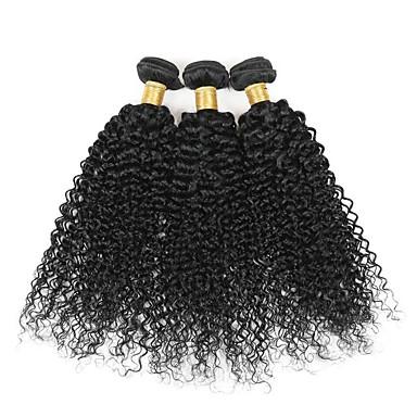 3 paquetes Cabello Brasileño Kinky Curly / Tejido rizado Cabello humano Tejidos Humanos Cabello Cabello humano teje Extensiones de cabello humano / Kinky rizado