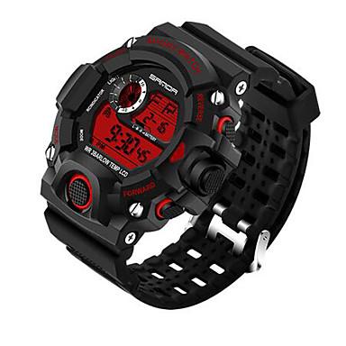 levne Vojenské hodinky-SANDA Pánské Sportovní hodinky Inteligentní hodinky Náramkové hodinky Digitální Japonské Quartz Silikon Černá 30 m Voděodolné Chronograf LED Digitální Luxus Na běžné nošení Módní - Červená Modr