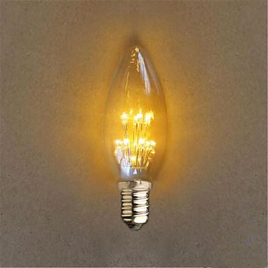 1PC 1 W 40 lm E14 مصابيح كروية LED C35 20 الخرز LED LED مغطس ديكور أصفر 220-240 V / قطعة / بنفايات
