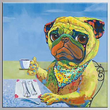 手描きの 抽象画 / 人物 油彩画,Modern / クラシック 1枚 キャンバス ハング塗装油絵 For ホームデコレーション