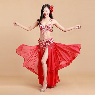 我々はベリーダンスの衣装女性ポリエステル/スパンデックス/スプリットダンスの衣装をしなければならない