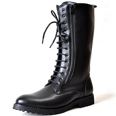 Hombre Fashion Boots Sintético Primavera / Verano / Otoño Confort / Botas de Moto Botas Negro / Fiesta y Noche