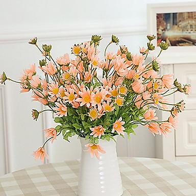1 Branch Plastikk / Others Daisies / Planter / Others Bordblomst Kunstige blomster