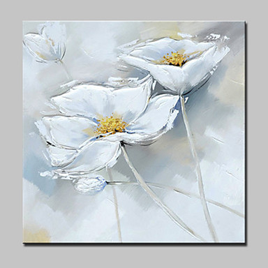 Hang malte oljemaleri Håndmalte - Blomstret / Botanisk Moderne Inkluder indre ramme / Stretched Canvas