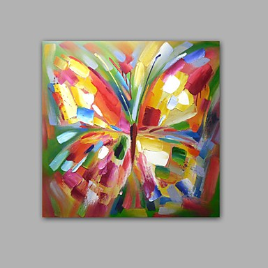 Pintura al óleo pintada a colgar Pintada a mano - Pop Art Clásico / Modern Incluir marco interior / Lona ajustada