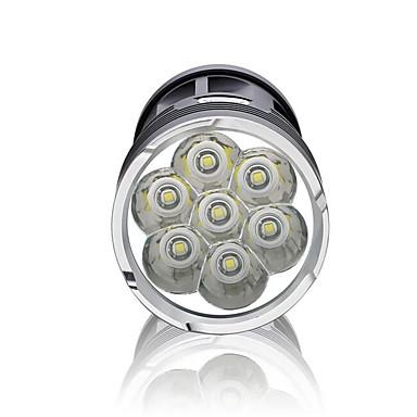 LED懐中電灯 LED 3000 lm 3 モード 防水 スーパーライト ハイパワー 調光可能 のために キャンプ/ハイキング/ケイビング 日常使用 サイクリング 狩猟 多機能 屋外 釣り 旅行 電池は含まれていません