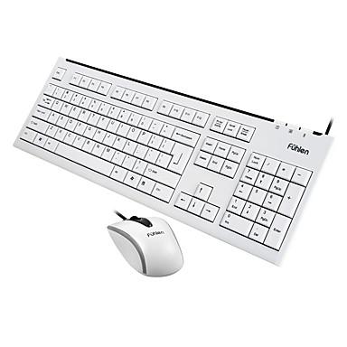 オフィスマウス USB 1000dpi オフィスキーボード USB Fuhlen L600