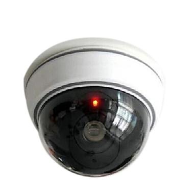 빨간색으로 깜박 kingneo 1 개 흰색 무선 가짜 더미 돔 CCTV 보안 카메라는 집이나 사무실 쇼핑 센터 빛을 주도