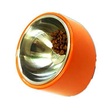 犬 フィーダ ペット用 ボウル&摂食 防水 携帯用 オレンジ